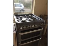 Hotpoint HUD61 Graphite dual fuel cooker