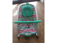 Mothercare baby seat. With gym toys and music. Can be used with IPod