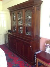 Large Bookcase/ Display cabinet and cupboards