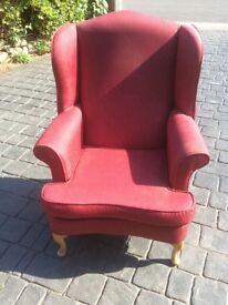 Good quality wing back chair