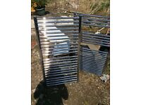 Chrome towel rails used