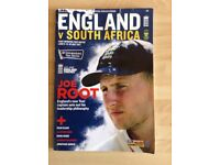 An Official Programme of the England v South Africa Test Match at Lords in 2017 with Autographs