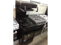 Beko high level grill single gas cooker. £280. Black & grey. New/graded 12 month Gtee