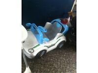 Kids electric police car brill condition
