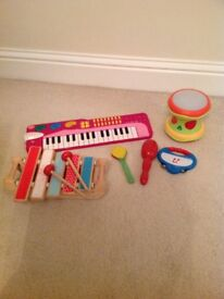 Bundle of musical toys for younger children