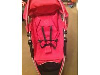 Petite star zia plus, small folding pushchair, ideal for travel, small car etc