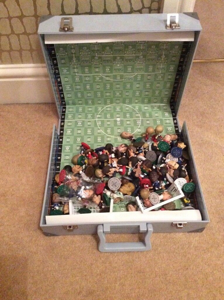 Micro stars micro dome football figures. 70 figures in total with case.