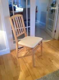 Deluxe folding dining room chairs