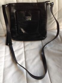 New black leather bag. From John Lewis Collection
