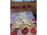 Prom / bridesmaid dress. Beautiful pale gold dress with silk lace up back detail. Worn once.