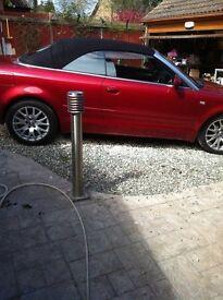 Beautiful Red Audi A4 Convertible