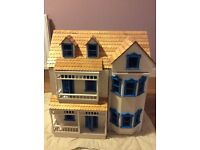 Doll's House for sale with assortment of furniture