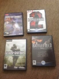 Pc cd rom games medal of honour ,call of duty battlefield etc
