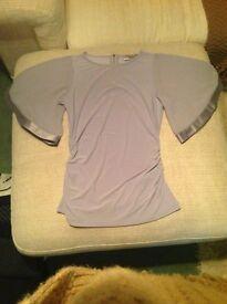 Coast - Silver Winged Sleeve Top