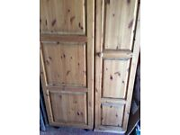 Solid Pine Single size wardrobe (sold separately)