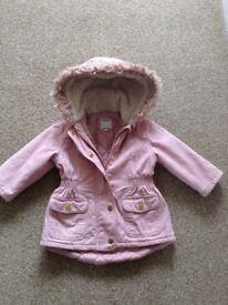 Girls M&S coat 12-18m