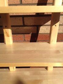 IKEA wooden shelving
