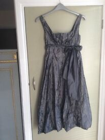 Satin Grey Evening Dress