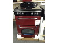 Leisure gourmet double oven 60cm red £349 RRP £549 new in package 12 mnth Gtee