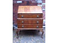 Antique Bureau Desk Vintage Writing Table Chest of Drawers Renovation Project