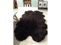 Genuine used sheepskin rug 78 x 45 inches brown ��45 Ono