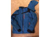 Brand new Spyder Ski Jacket in Blue with black and Orange trim. The colour to have.