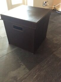 Brown Faux Leather Storage Box - Solihull