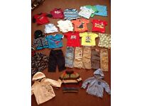 Huge bundle of boys clothing Age 12-18 mth incl Next Mothercare incl jumpers trousers tops coat