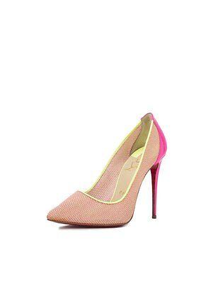 New Christian Louboutin Follies Lace Raphia Patent Red Sole Pump Shoe 39 5 9 5