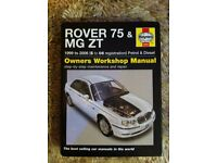 Haynes Manual For Rover 75 & MG ZT 99-06
