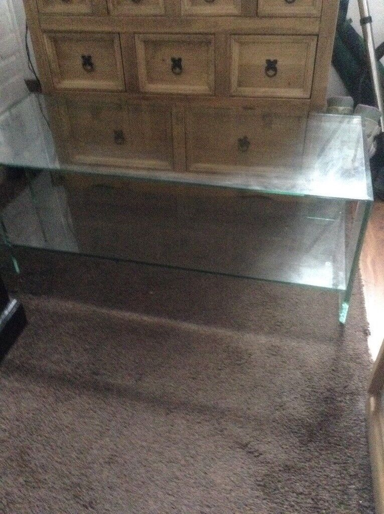 Solid glass coffee/ TV table