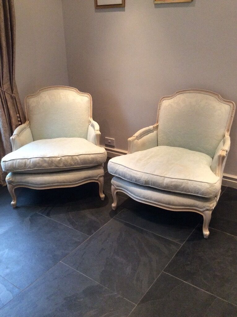 Laura Ashley Belfort French Style Chairs X 2 In