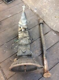 Triumph spitfire gearbox with overdrive & propshaft