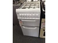Beko 50cm white gas cooker with glass lid. £249 new/graded 12 month Gtee