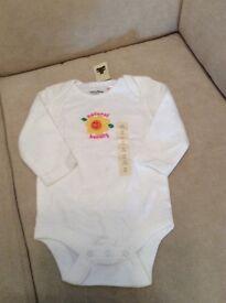 Baby gap long sleeved babygro 3-6 months