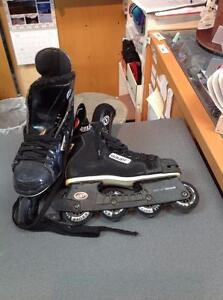Bauer Off Ice Hockey Inline Skates 7D Black (SKU:4CNTRS)