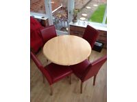 Extendable Dining Table & Four Chairs