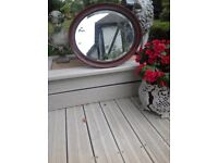 SHABBY CHIC PROJECT..VICTORIAN WOOD fRAMED MIRROR/ OVER MANTLE, BEVELLED EDGE TO GLASS