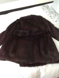 Ladies real fur coat