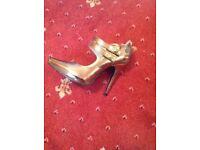 Morgan Bronze High Heeled Shoes Size 4