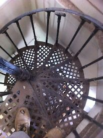 Set of 5-6 complete Victorian cast iron spiral staircases forsale