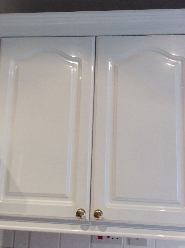 Kitchen cabinet doors white high gloss new and in original ...