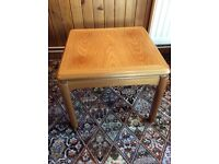 Square Teak Occasional Table