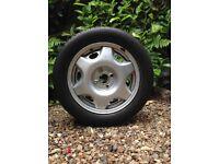 Vauxhall spare wheel & Infinity tyre 195/55R15 85v