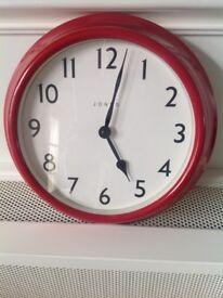 Red Jones wall clock