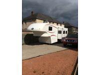 """5th Wheel Celtic Rambler Caravan (27'11"""") 2008 and 57 Plate Nissan Navara Aventura (36900 MLS)"""
