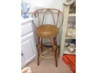 Tikki cane/bamboo bar stool