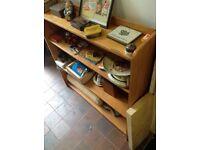 Old pine shelves