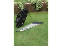 Full set of Browning Eclipse golf clubs plus carry stand bag