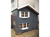 Kids Garden Playhouse 2 storey 8ft x 6ft VGC see description.